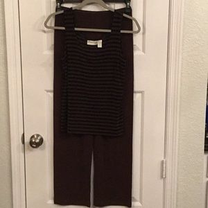 Chico's private edition brown knit set